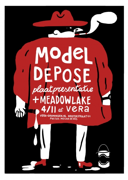 Model Depose screenprint