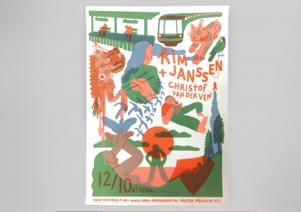Screenprinted poster Kim Janssen